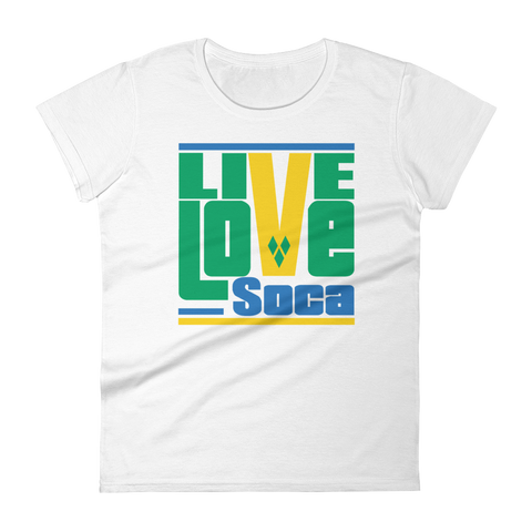 Saint Vincent & The Grenadines Islands Edition Womens T-Shirt - Live Love Soca Clothing & Accessories