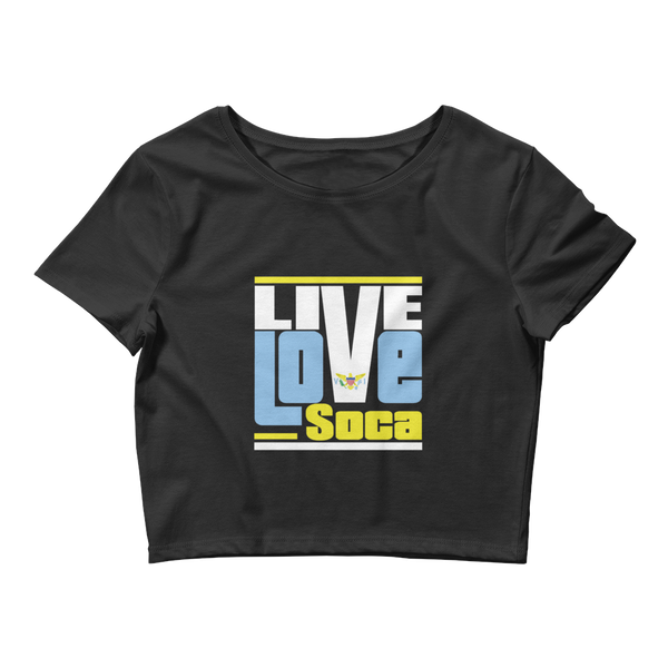 Virgin Islands Islands Edition Womens Black Crop Tee - Fitted - Live Love Soca Clothing & Accessories