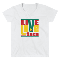 Grenada Islands Edition Womens V-Neck T-Shirt - Live Love Soca Clothing & Accessories