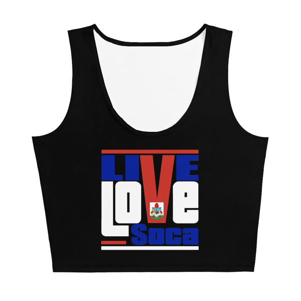 Bermuda Islands Edition Black Crop Tank Top - Fitted - Live Love Soca Clothing & Accessories