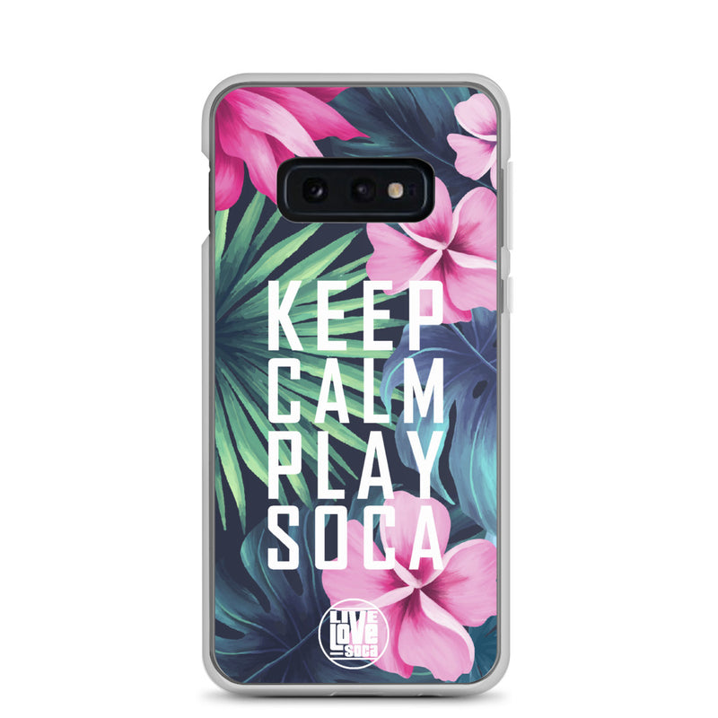Keep Calm Play Soca Samsung Phone Case - Live Love Soca Clothing & Accessories