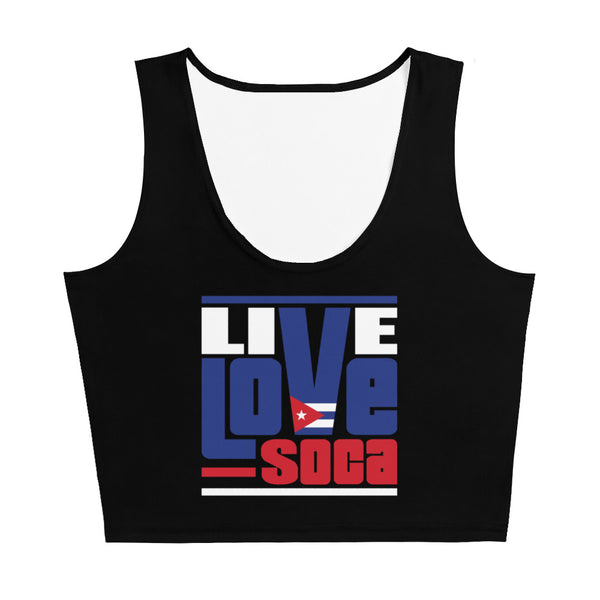 Cuba Islands Edition Black Crop Tank Top - Fitted - Live Love Soca Clothing & Accessories