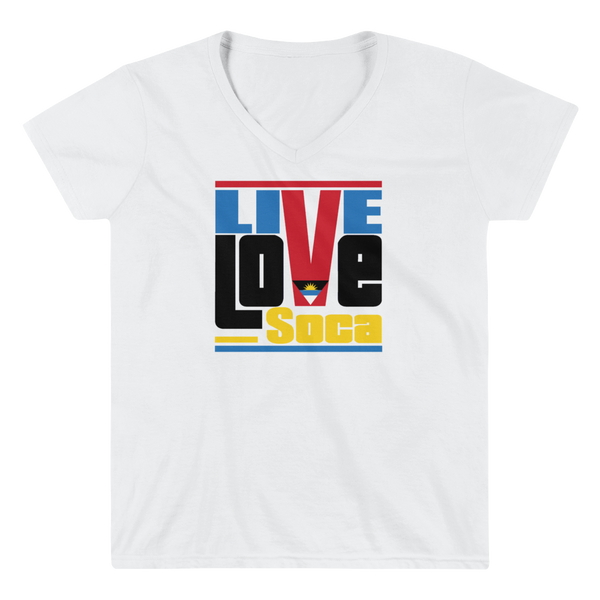 Antigua & Barbuda Islands Edition Womens V-Neck T-Shirt - Live Love Soca Clothing & Accessories