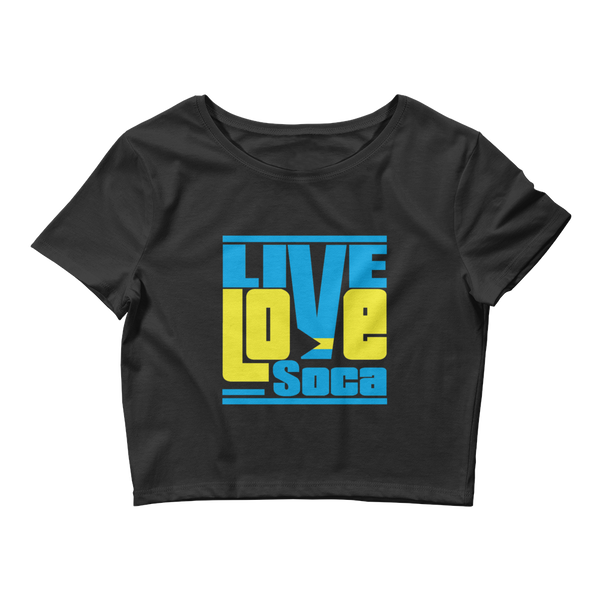 Bahamas Islands Edition Womens Black Crop Tee - Fitted - Live Love Soca Clothing & Accessories