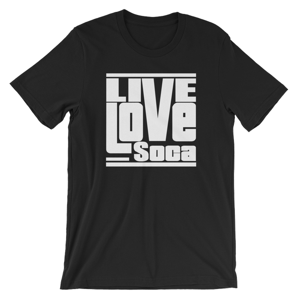 Black Edition Mens T-Shirt - White Print - Regular Fit - Live Love Soca Clothing & Accessories