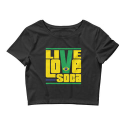 Brazil South America Edition Womens Crop Tee - Live Love Soca Clothing & Accessories