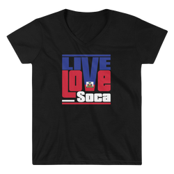 Haiti Islands Edition Womens V-Neck T-Shirt - Live Love Soca Clothing & Accessories