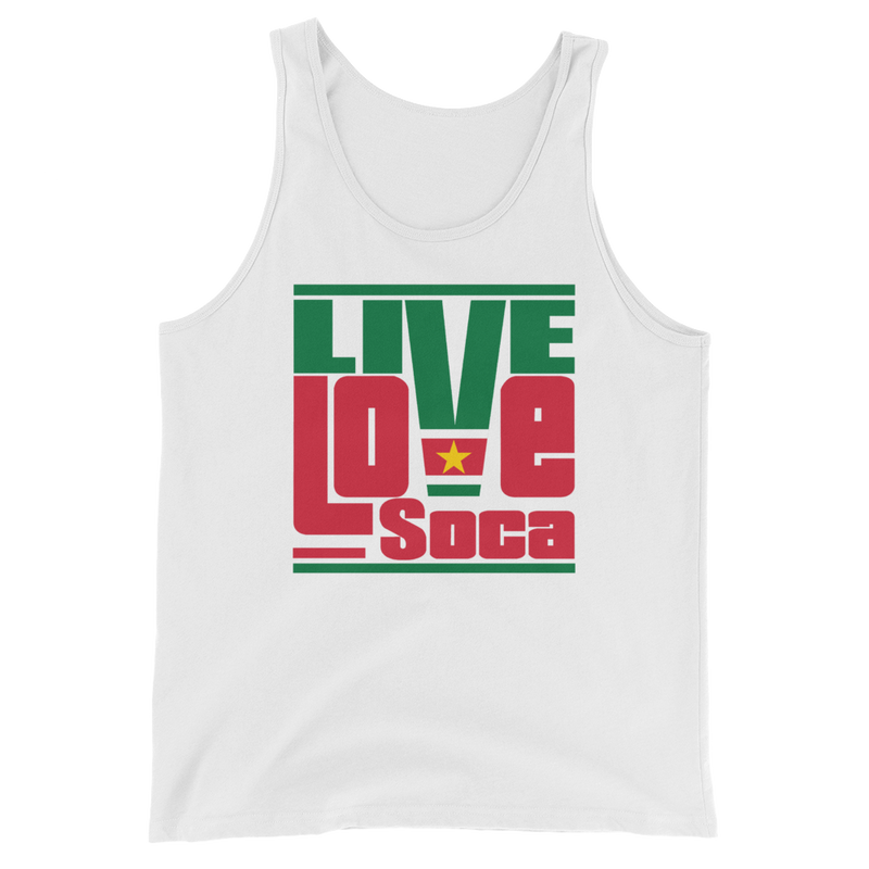 Suriname Islands Edition Mens Tank Top - Live Love Soca Clothing & Accessories