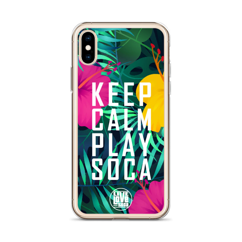 Keep Calm Play Soca iPhone Case - Live Love Soca Clothing & Accessories