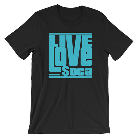 Black Edition Mens T-Shirt - Blue Print - Regular Fit - Live Love Soca Clothing & Accessories