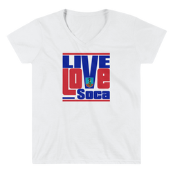 Montserrat Islands Edition Womens V-Neck T-Shirt - Live Love Soca Clothing & Accessories