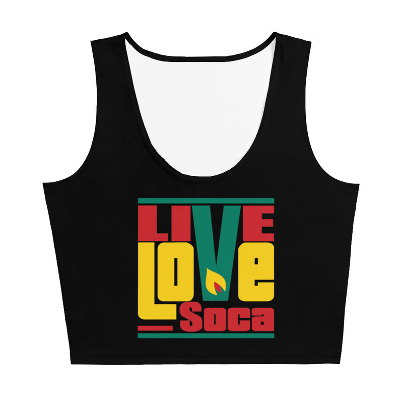 Grenada Islands Edition Black Crop Tank Top - Fitted - Live Love Soca Clothing & Accessories