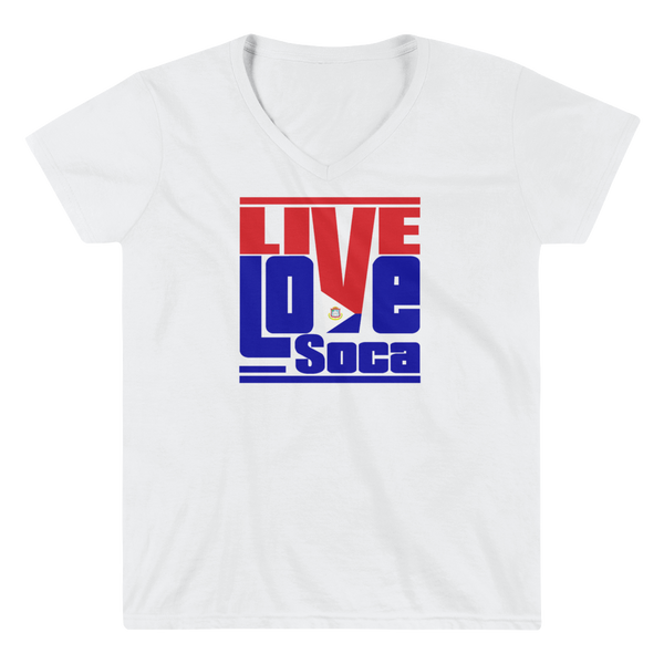 Saint Maarten Islands Edition Womens V-Neck T-Shirt - Live Love Soca Clothing & Accessories