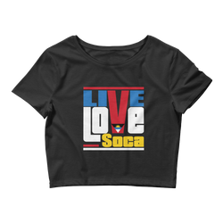 Antigua Islands Edition Womens Black Crop Tee - Fitted - Live Love Soca Clothing & Accessories