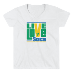 Saint Vincent Islands Edition Womens V-Neck T-Shirt - Live Love Soca Clothing & Accessories