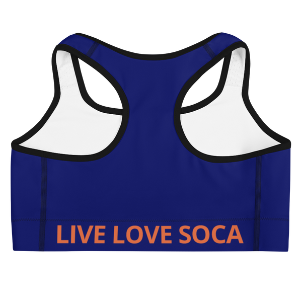 Energy Active Orange-Blue Active Sports Bra - Live Love Soca Clothing & Accessories
