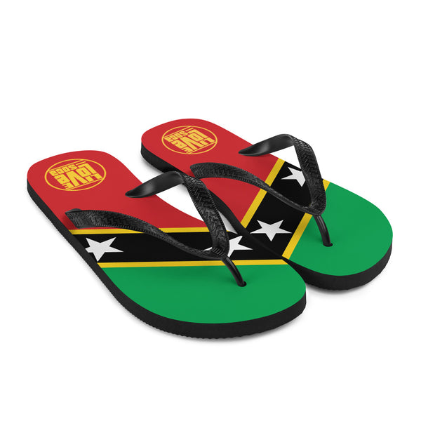 Island Saint Kitts & Nevis Flip Flops - Live Love Soca Clothing & Accessories