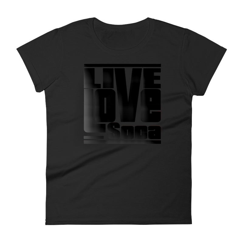 Black Edition Womens T-Shirt - Fitted - Live Love Soca Clothing & Accessories