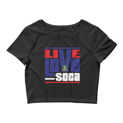 British Virgin Islands - Islands Edition Womens Crop Tee - Live Love Soca Clothing & Accessories