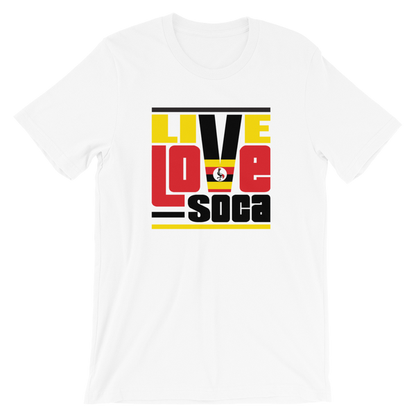 Uganda Africa Edition White Mens T-Shirt - Live Love Soca Clothing & Accessories