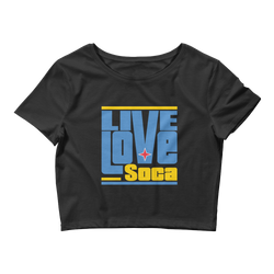 Aruba Islands Edition Womens Black Crop Tee - Fitted - Live Love Soca Clothing & Accessories
