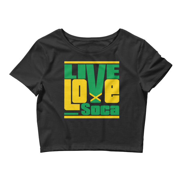 Jamaica Islands Edition Womens Black Crop Tee - Fitted