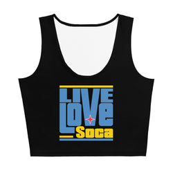 Aruba Islands Edition Womens Black Crop Tank Top - Fitted - Live Love Soca Clothing & Accessories