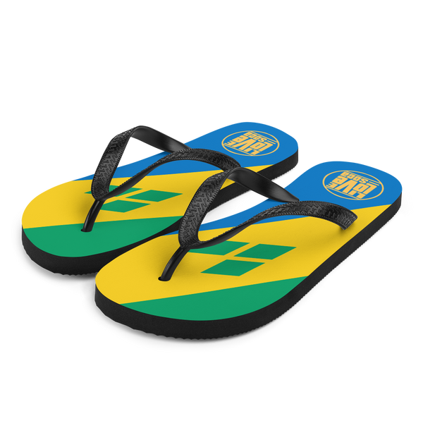 Island Saint Vincent & The Grenadines Flip Flops - Live Love Soca Clothing & Accessories