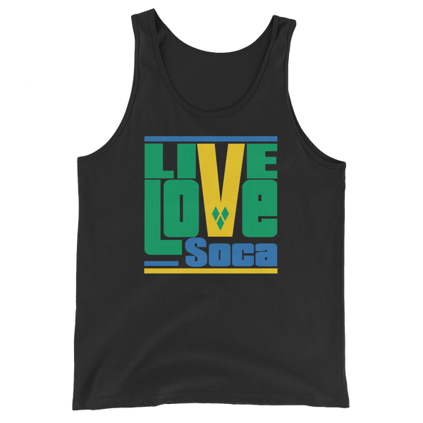 Saint Vincent & The Grenadines Islands Edition Mens Tank Top - Live Love Soca Clothing & Accessories