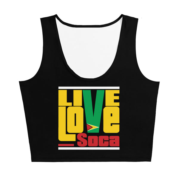 Guyana Islands Edition Black Crop Tank Top- Fitted