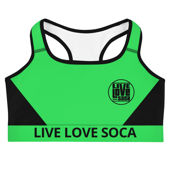 Neon Active Green Sports Bra - Live Love Soca Clothing & Accessories