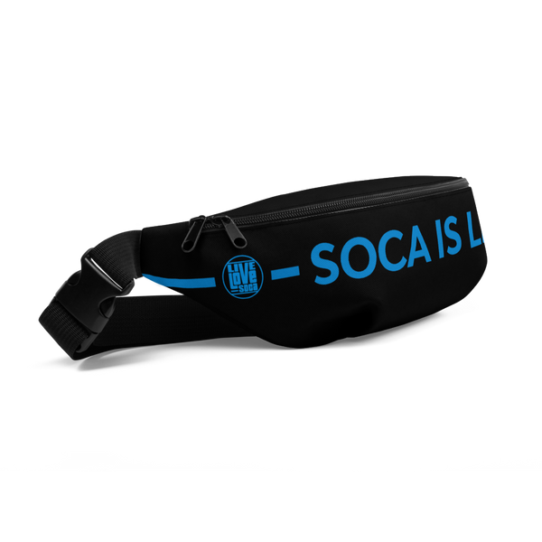 Soca Is Life Black - Blue Waist bag - Live Love Soca Clothing & Accessories