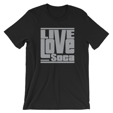 Black Edition Mens T-Shirt - Grey Print - Regular Fit - Live Love Soca Clothing & Accessories
