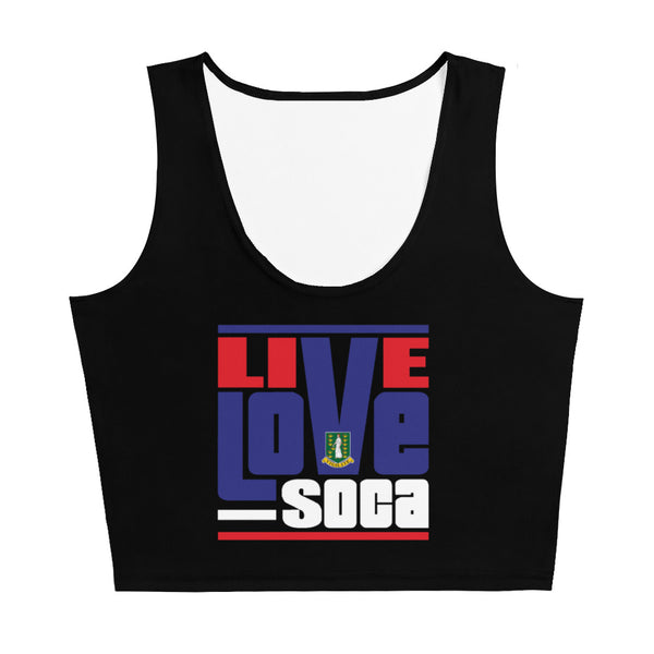 British Virgin Islands - Islands Edition Black Crop Tank Top - Fitted - Live Love Soca Clothing & Accessories