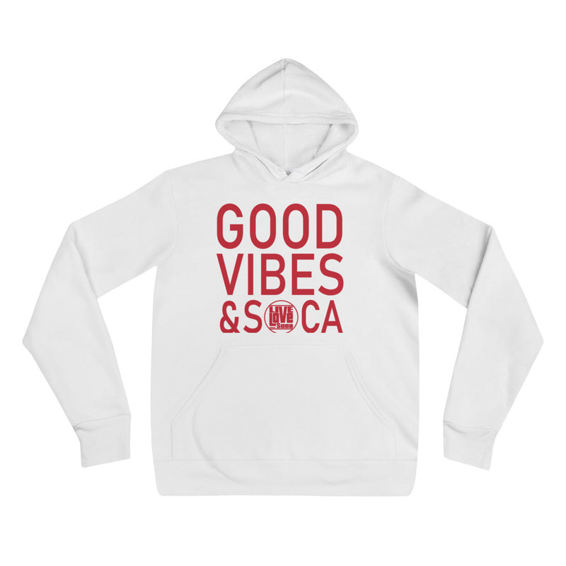 Good Vibes & Soca White Womens hoodie - Live Love Soca Clothing & Accessories