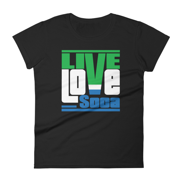 Sierra-Leone Africa Edition Womens T-Shirt - Live Love Soca Clothing & Accessories