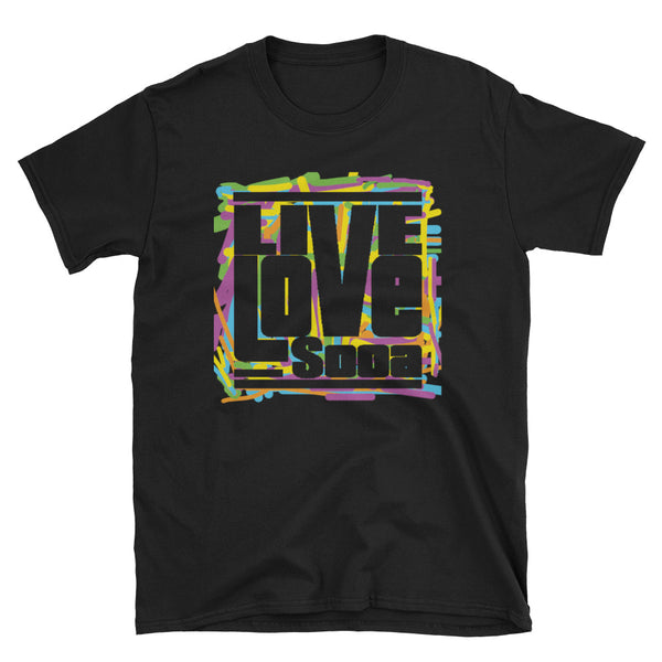 Live Love Soca Short-Sleeve Mens T-Shirt - Scribble - Live Love Soca Clothing & Accessories