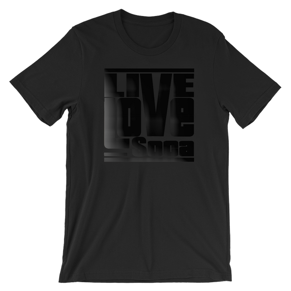 Black Edition Mens T-Shirt - Regular Fit - Live Love Soca Clothing & Accessories