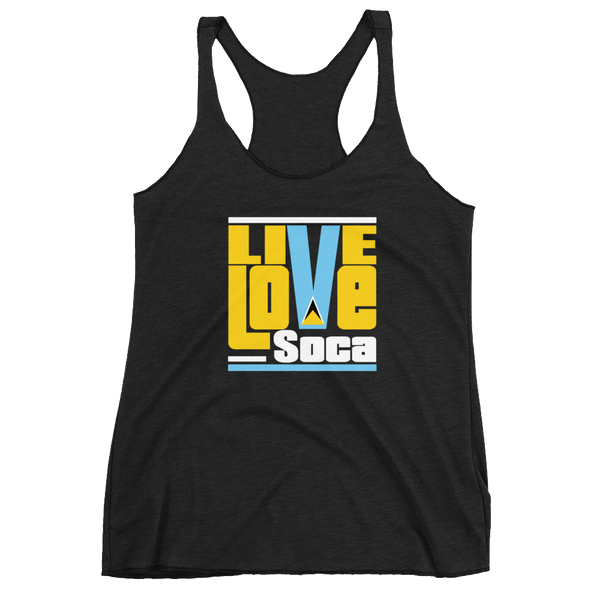 Saint Lucia Islands Edition Womens Tank Top - Live Love Soca Clothing & Accessories