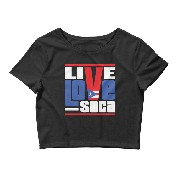 Puerto Rico Islands Edition Womens Crop Tee - Live Love Soca Clothing & Accessories