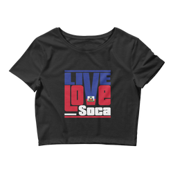 Haiti Islands Edition Womens Black Crop Tee - Fitted - Live Love Soca Clothing & Accessories