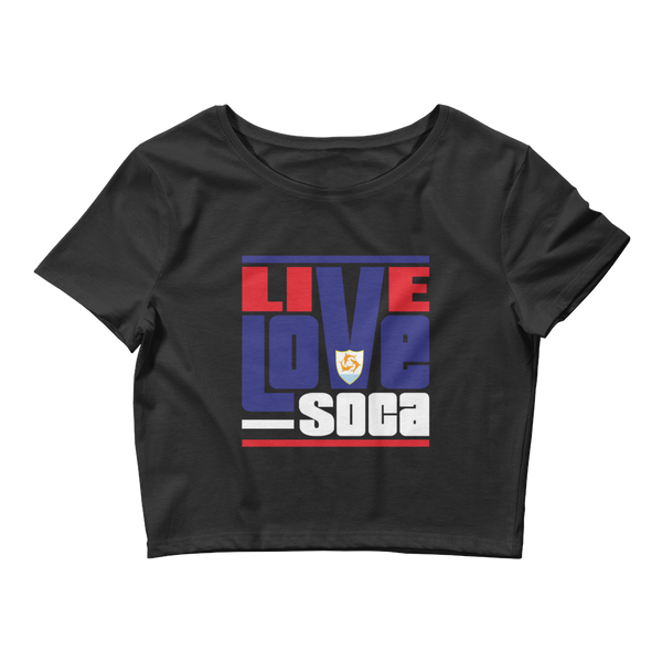 Aguilla Islands Edition Womens Crop Tee - Fitted - Live Love Soca Clothing & Accessories