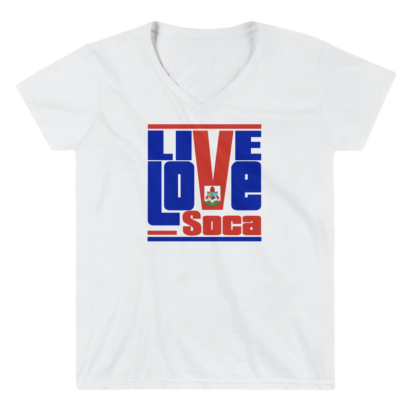 Bermuda Islands Edition Womens V-Neck T-Shirt - Live Love Soca Clothing & Accessories