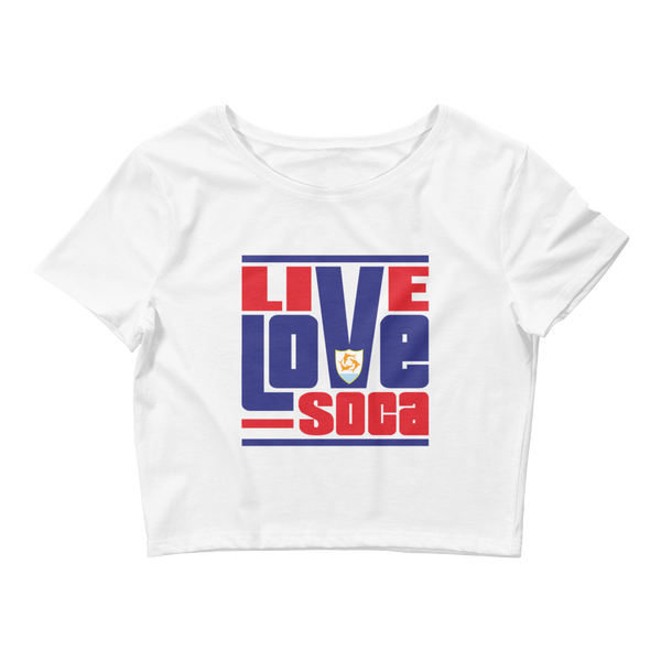 Anguilla Islands Edition Womens Crop Tee - Live Love Soca Clothing & Accessories