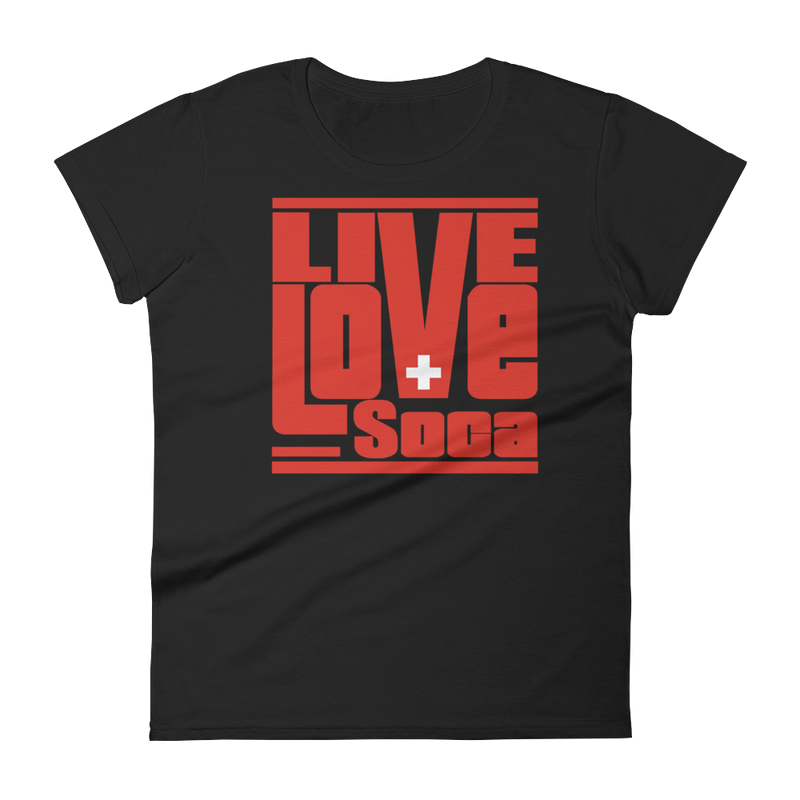 Switzerland Euro Edition Womens T Shirt - Live Love Soca Clothing & Accessories