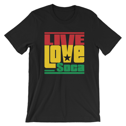 Ghana Africa Edition Mens T-Shirt - Live Love Soca Clothing & Accessories
