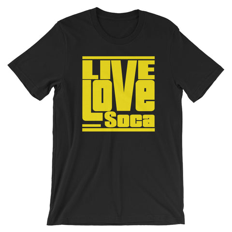 Black Edition Mens T-Shirt - Yellow Print - Regular Fit - Live Love Soca Clothing & Accessories