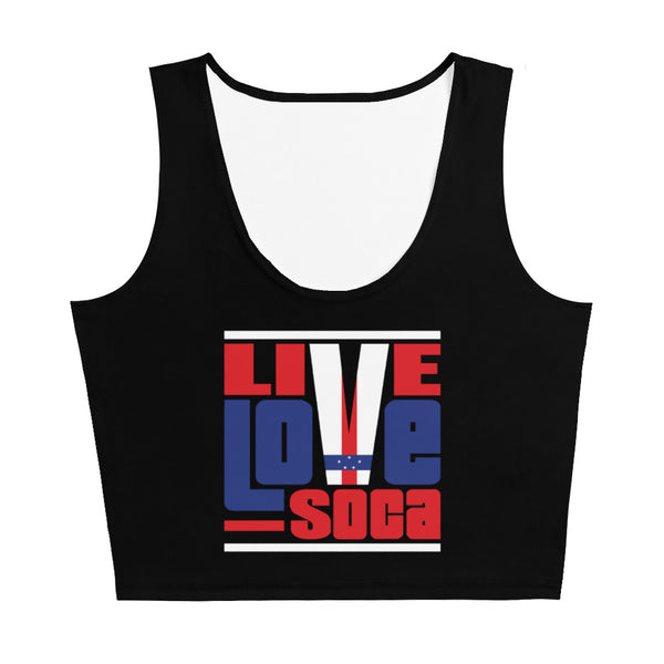 Netherlands Antilles Islands Edition Black Crop Tank Top - Fitted - Live Love Soca Clothing & Accessories