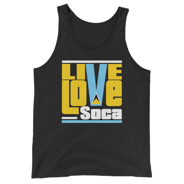 Saint Lucia Islands Edition Mens Tank Top - Live Love Soca Clothing & Accessories