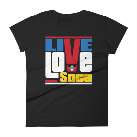 Antigua & Barbuda Islands Edition Womens T-Shirt - Live Love Soca Clothing & Accessories